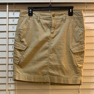 khaki cargo skirt